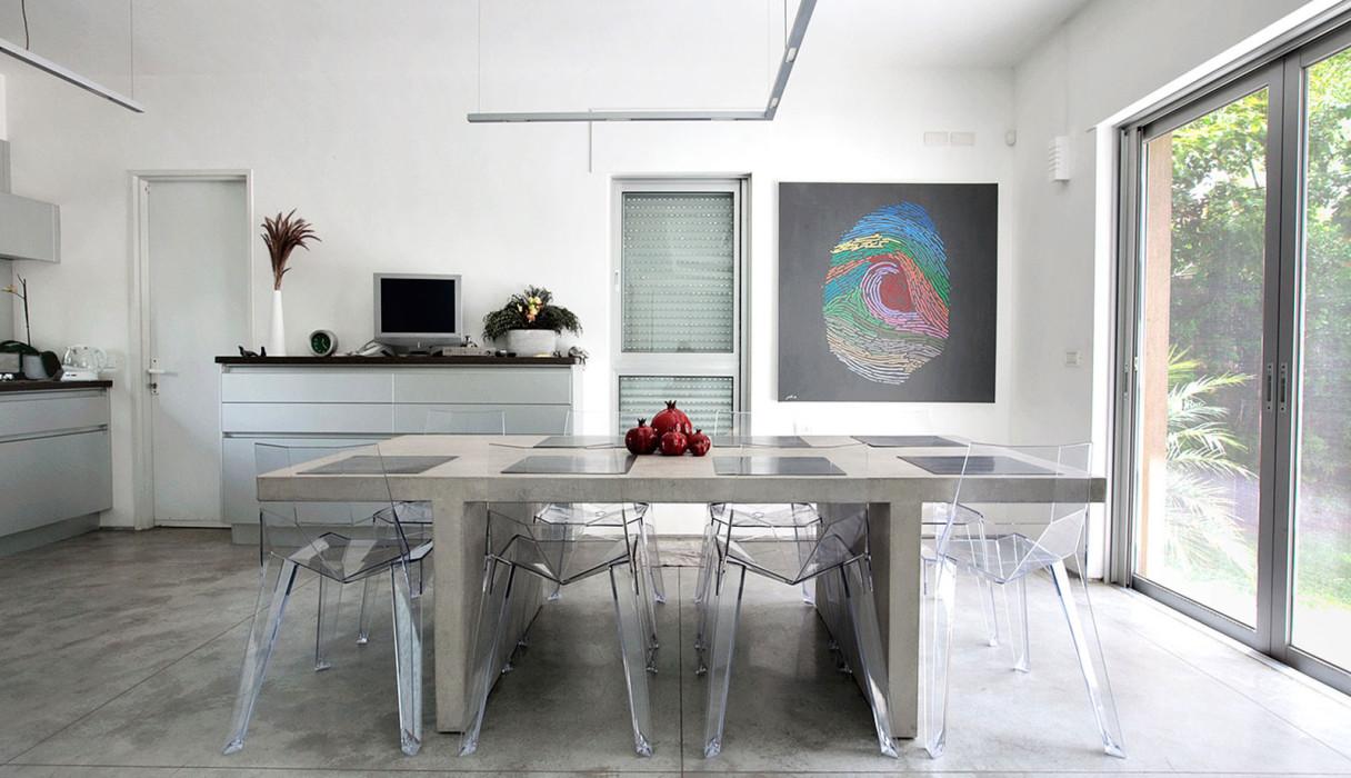 שולחן בטון מוחלק למטבח הבית