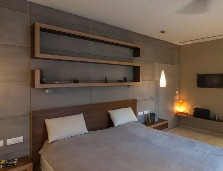 קיר בטון מוחלק לחדר שינה - ארטן בטונדה