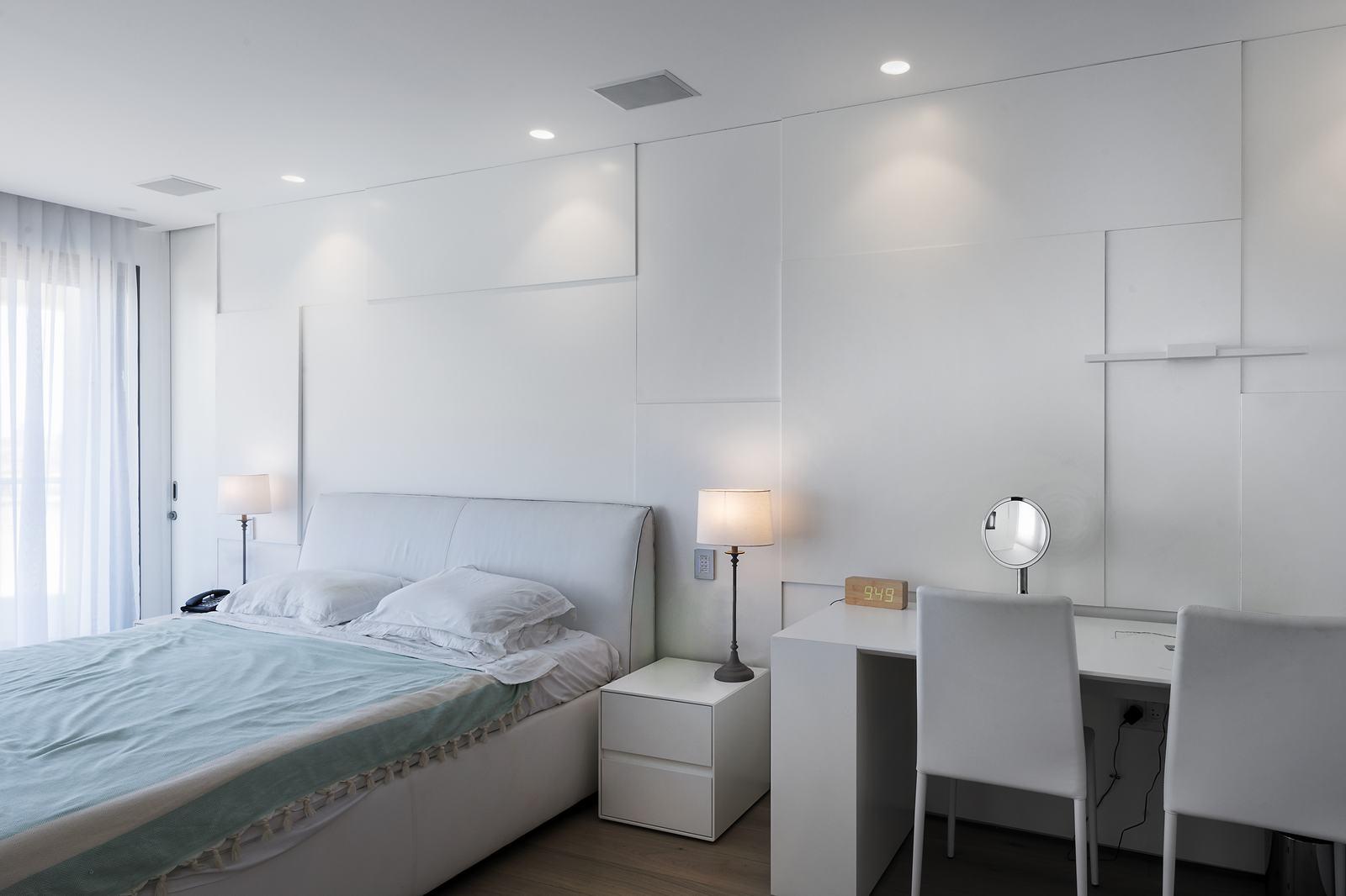 קיר בטון מוחלק דקורטיבי לחדר שינה- בטונדה